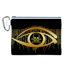 Virus Computer Encryption Trojan Canvas Cosmetic Bag (L)
