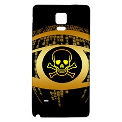 Virus Computer Encryption Trojan Galaxy Note 4 Back Case