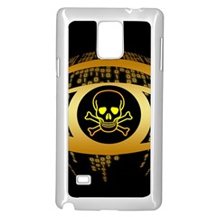 Virus Computer Encryption Trojan Samsung Galaxy Note 4 Case (White)