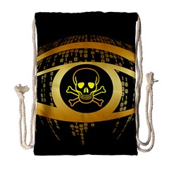Virus Computer Encryption Trojan Drawstring Bag (Large)