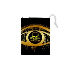 Virus Computer Encryption Trojan Drawstring Pouches (XS)