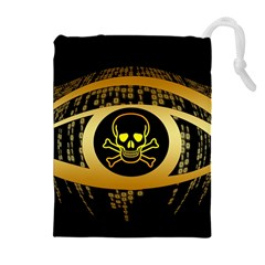 Virus Computer Encryption Trojan Drawstring Pouches (Extra Large)