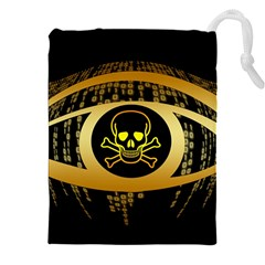 Virus Computer Encryption Trojan Drawstring Pouches (XXL)