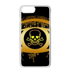 Virus Computer Encryption Trojan Apple iPhone 7 Plus White Seamless Case