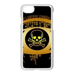 Virus Computer Encryption Trojan Apple iPhone 7 Seamless Case (White)
