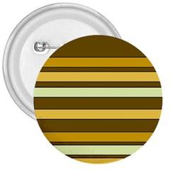 Elegant Shades of Primrose Yellow Brown Orange Stripes Pattern 3  Buttons