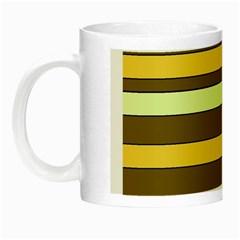Elegant Shades of Primrose Yellow Brown Orange Stripes Pattern Night Luminous Mugs