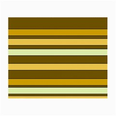 Elegant Shades of Primrose Yellow Brown Orange Stripes Pattern Small Glasses Cloth