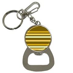Elegant Shades of Primrose Yellow Brown Orange Stripes Pattern Button Necklaces