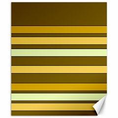 Elegant Shades of Primrose Yellow Brown Orange Stripes Pattern Canvas 8  x 10