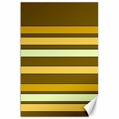 Elegant Shades of Primrose Yellow Brown Orange Stripes Pattern Canvas 20  x 30