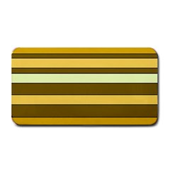 Elegant Shades of Primrose Yellow Brown Orange Stripes Pattern Medium Bar Mats