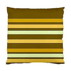 Elegant Shades of Primrose Yellow Brown Orange Stripes Pattern Standard Cushion Case (One Side)