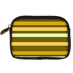 Elegant Shades of Primrose Yellow Brown Orange Stripes Pattern Digital Camera Cases