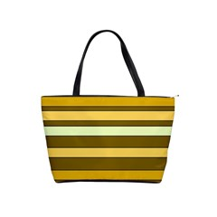 Elegant Shades of Primrose Yellow Brown Orange Stripes Pattern Shoulder Handbags