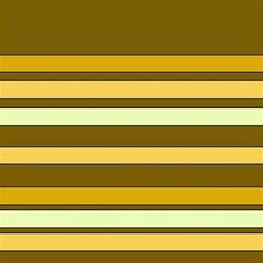 Elegant Shades of Primrose Yellow Brown Orange Stripes Pattern Magic Photo Cubes