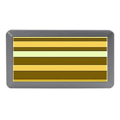 Elegant Shades of Primrose Yellow Brown Orange Stripes Pattern Memory Card Reader (Mini)