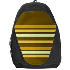 Elegant Shades of Primrose Yellow Brown Orange Stripes Pattern Backpack Bag