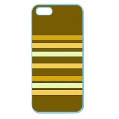 Elegant Shades of Primrose Yellow Brown Orange Stripes Pattern Apple Seamless iPhone 5 Case (Color)