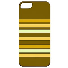 Elegant Shades of Primrose Yellow Brown Orange Stripes Pattern Apple iPhone 5 Classic Hardshell Case