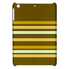 Elegant Shades of Primrose Yellow Brown Orange Stripes Pattern Apple iPad Mini Hardshell Case