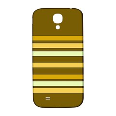Elegant Shades of Primrose Yellow Brown Orange Stripes Pattern Samsung Galaxy S4 I9500/I9505  Hardshell Back Case