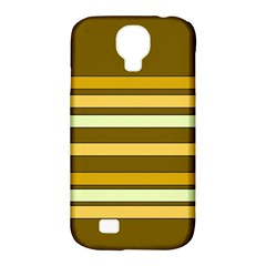 Elegant Shades of Primrose Yellow Brown Orange Stripes Pattern Samsung Galaxy S4 Classic Hardshell Case (PC+Silicone)