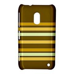 Elegant Shades of Primrose Yellow Brown Orange Stripes Pattern Nokia Lumia 620