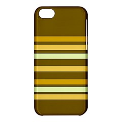 Elegant Shades of Primrose Yellow Brown Orange Stripes Pattern Apple iPhone 5C Hardshell Case