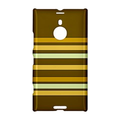 Elegant Shades of Primrose Yellow Brown Orange Stripes Pattern Nokia Lumia 1520