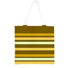Elegant Shades of Primrose Yellow Brown Orange Stripes Pattern Grocery Light Tote Bag
