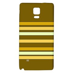 Elegant Shades of Primrose Yellow Brown Orange Stripes Pattern Galaxy Note 4 Back Case