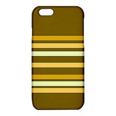 Elegant Shades of Primrose Yellow Brown Orange Stripes Pattern iPhone 6/6S TPU Case