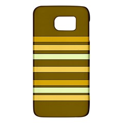 Elegant Shades of Primrose Yellow Brown Orange Stripes Pattern Galaxy S6