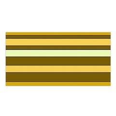 Elegant Shades of Primrose Yellow Brown Orange Stripes Pattern Satin Shawl