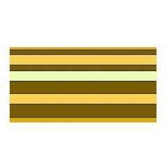Elegant Shades of Primrose Yellow Brown Orange Stripes Pattern Satin Wrap