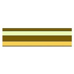 Elegant Shades of Primrose Yellow Brown Orange Stripes Pattern Satin Scarf (Oblong)