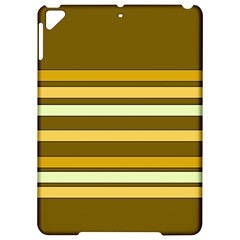 Elegant Shades of Primrose Yellow Brown Orange Stripes Pattern Apple iPad Pro 9.7   Hardshell Case