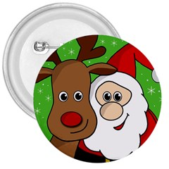 Rudolph and Santa selfie 3  Buttons