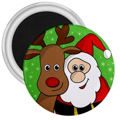 Rudolph and Santa selfie 3  Magnets