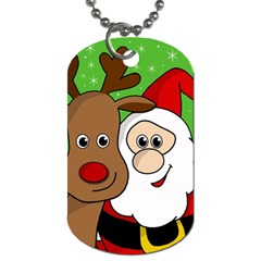 Rudolph and Santa selfie Dog Tag (Two Sides)