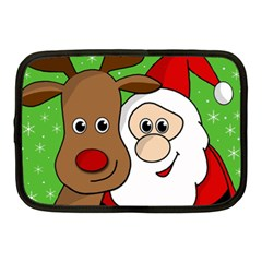 Rudolph and Santa selfie Netbook Case (Medium)