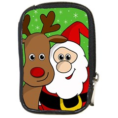 Rudolph and Santa selfie Compact Camera Cases
