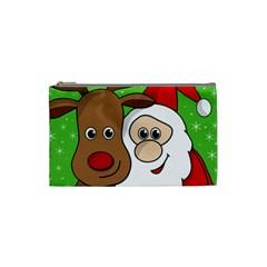 Rudolph and Santa selfie Cosmetic Bag (Small)
