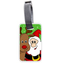 Rudolph and Santa selfie Luggage Tags (One Side)