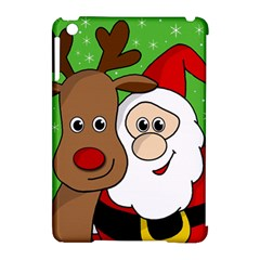 Rudolph and Santa selfie Apple iPad Mini Hardshell Case (Compatible with Smart Cover)