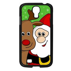 Rudolph and Santa selfie Samsung Galaxy S4 I9500/ I9505 Case (Black)