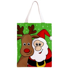 Rudolph and Santa selfie Classic Light Tote Bag