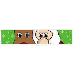 Rudolph and Santa selfie Flano Scarf (Small)
