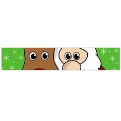 Rudolph and Santa selfie Flano Scarf (Large)
